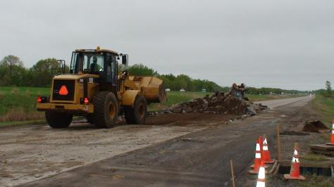 Image from MnROAD's 2013 construction kickoff.