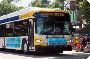 Photo of Metro Transit diesel-electric bus