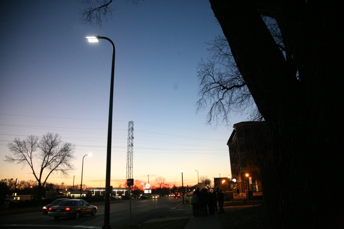 streetlight at dusk