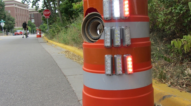 'Intelligent' traffic drum could help prevent work-zone tragedies