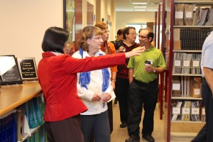 Photo of a group of librarians in the MnDOT Library