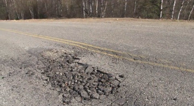 New videos show how frost heave ravages roads