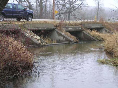 Culverts allow water to pass under roads.