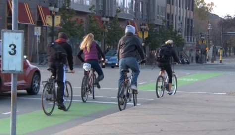 A federal project funded 75 miles of new bike lanes in four communities, including Minneapolis.