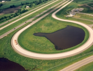 MnROAD has two 3.5 mile test segments on Interstate 94 and one closed 2.5-mile low-volume road.