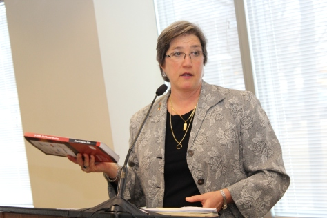 """It's a very intense and very busy experience,"" said Chief MnDOT Engineer Deputy Commissioner and Chief Engineer Sue Mulvihill, who displayed the thick program book and other materials from this year's Transportation Research Board Annual Meeting."