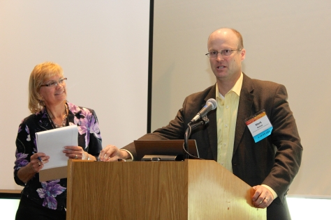 MnDOT Research Services & Library Director Linda Taylor and MnDOT Planning and Data Analysis Director Mark Nelson