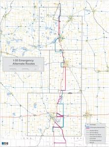 I-35EmergencyAlternateRouteMap