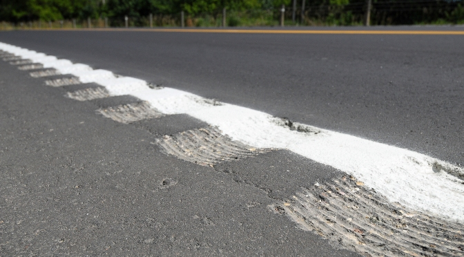 a rumble strip