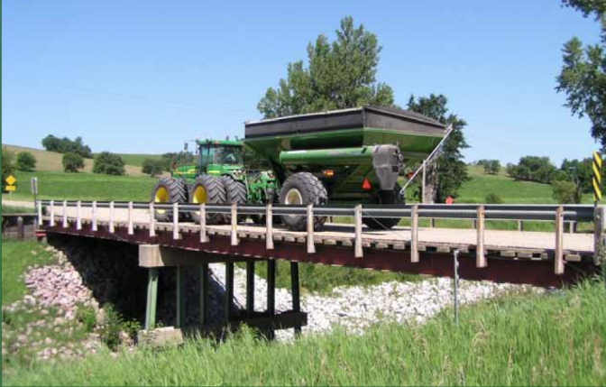 Study to develop bridge load limits for tractors