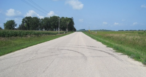 One of the projects being tracked is Wabasha County Road 73, one of only a couple lightly surfaced (Otta seal) roads in the state.