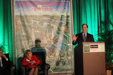 MnDOT Commissioner Charles Zelle, who ran a regional bus company before being appointed to MnDOT, said it was faster for him to bike to the conference than to take his car.