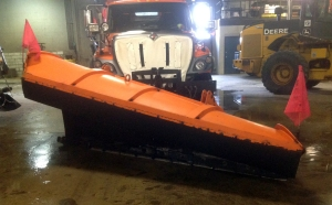 One-way reversible plow.