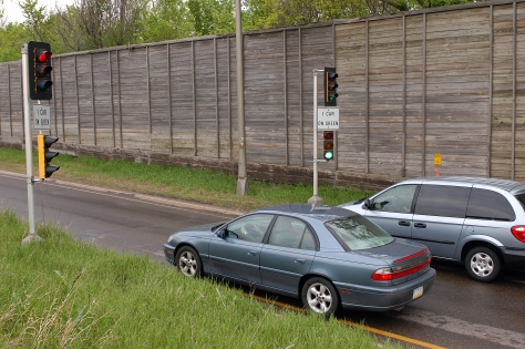 The amount of hours vehicles wait at entrance ramps fell by nearly 50 percent during the fall months along a section of Highway 100.