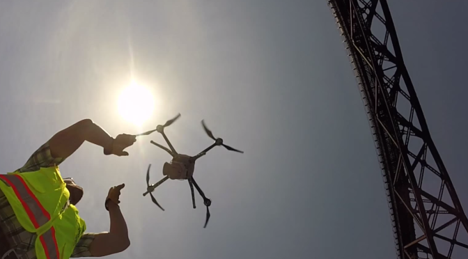 Using drones to inspect bridges