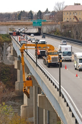 Using drones could also minimize risks associated with current bridge inspection methods, which include rope systems and special inspection vehicles. (Photo by D.R. Gonzalez, MnDOT)