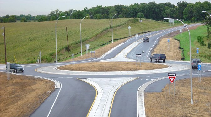 Scott County roundabout