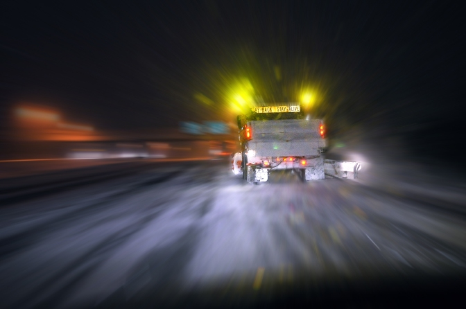 Driver-assist system helps keep plows on the road