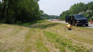 Photo of roadside ditch