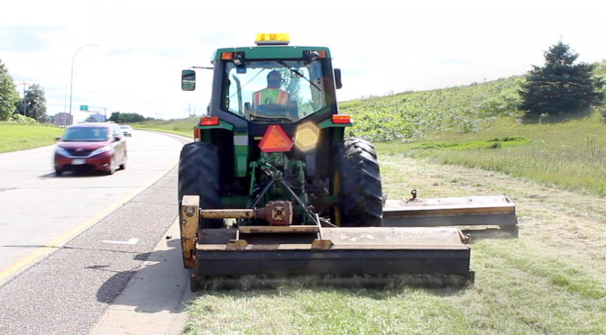 Knowing While Mowing: GPS Keeps Maintenance Workers Out Of the Weeds