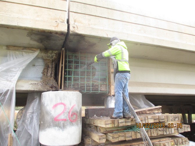 Affordable Bridge Girder End Repair Method Restores Concrete Beams