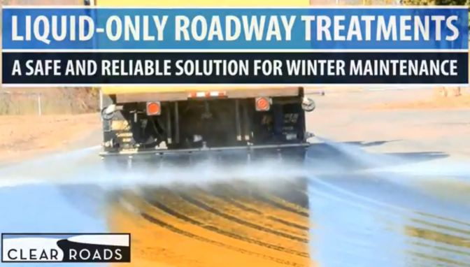 Liquid-only roadway treatments, a safe and reliable solution for winter maintenance banner