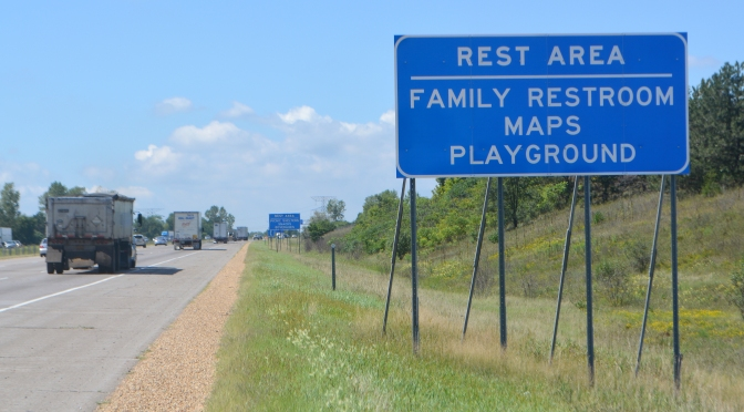 New signs give highway drivers more reasons to stop at rest areas