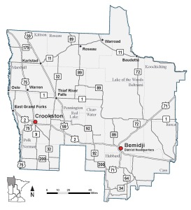 Map of MnDOT District 2
