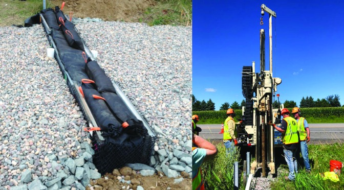 Redesigned iron-enhanced ditch checks could help filter pollutants from stormwater runoff