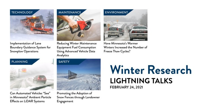Webinar Recording Available: Winter Research Lightning Talks