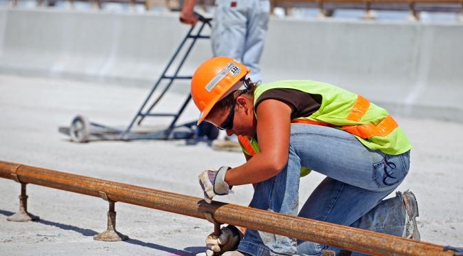 Worker on Hastings Bridge.